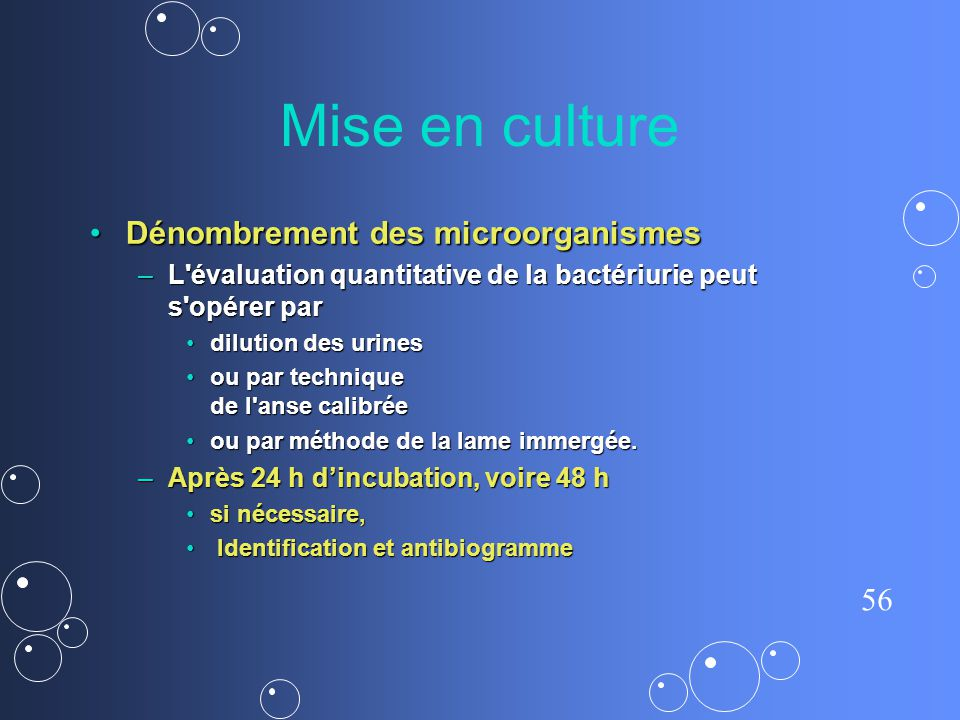 Mise en culture Dénombrement des microorganismes