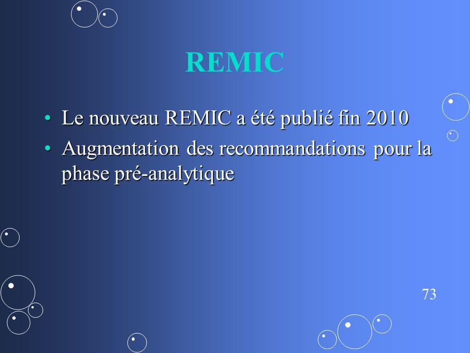 REMIC Le nouveau REMIC a été publié fin 2010