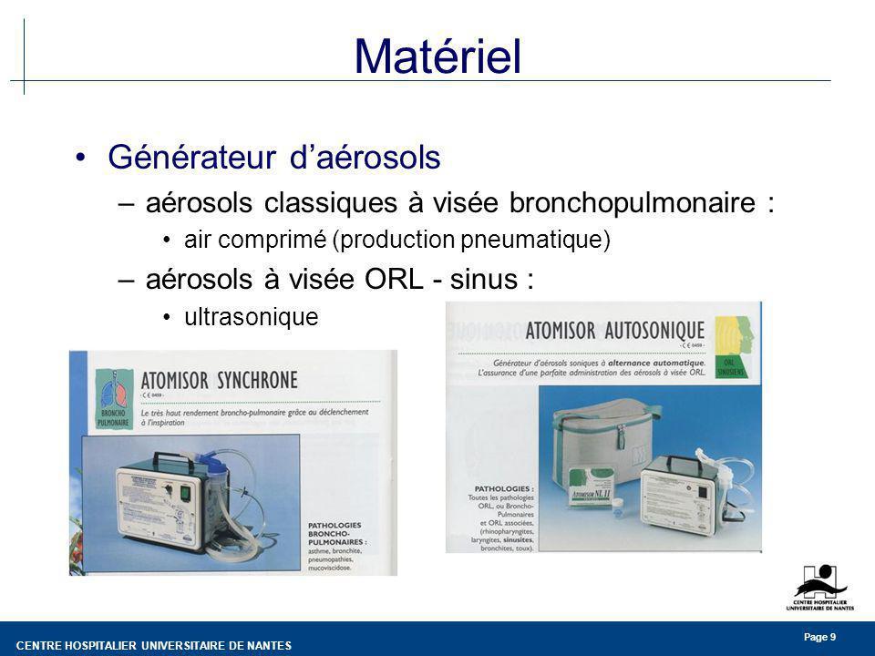 Matériel Générateur d'aérosols