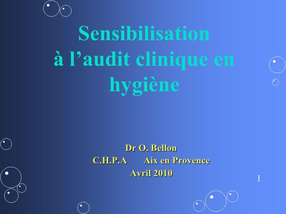Sensibilisation à l'audit clinique en hygiène