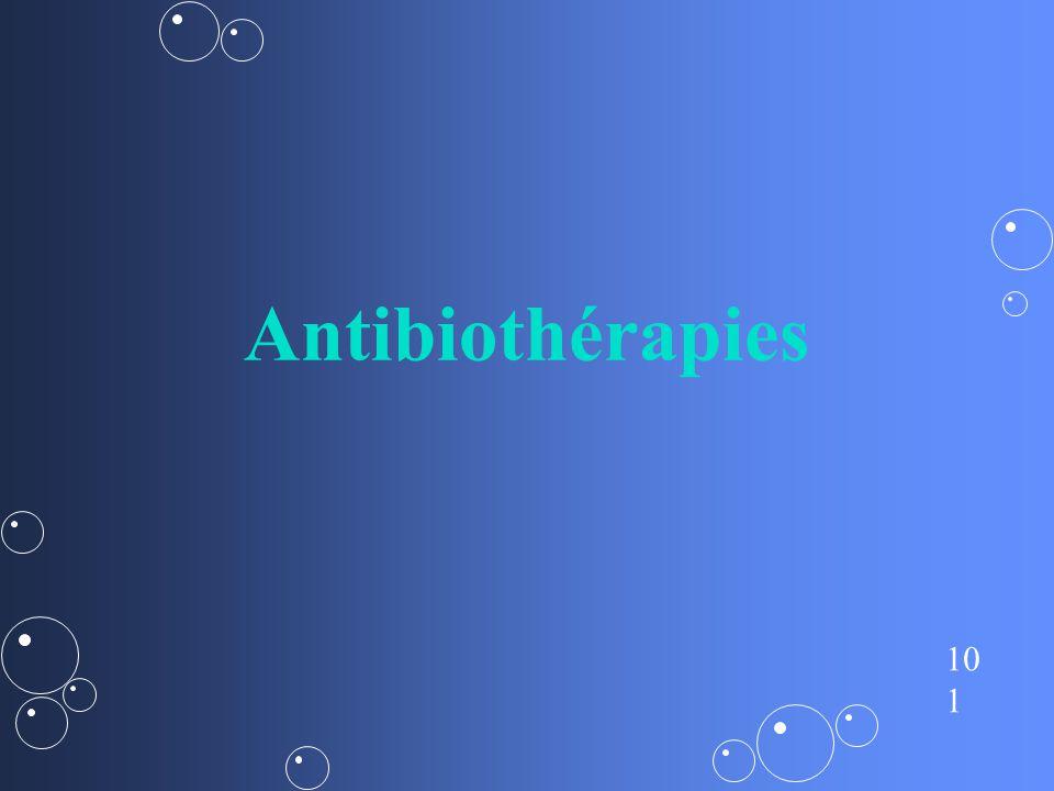 Antibiothérapies