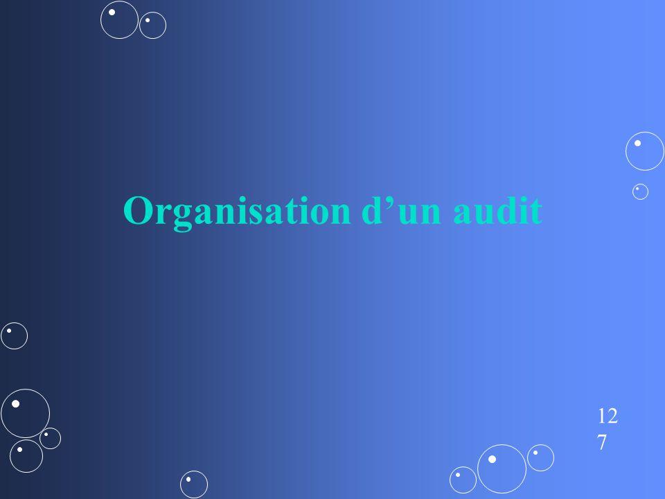 Organisation d'un audit