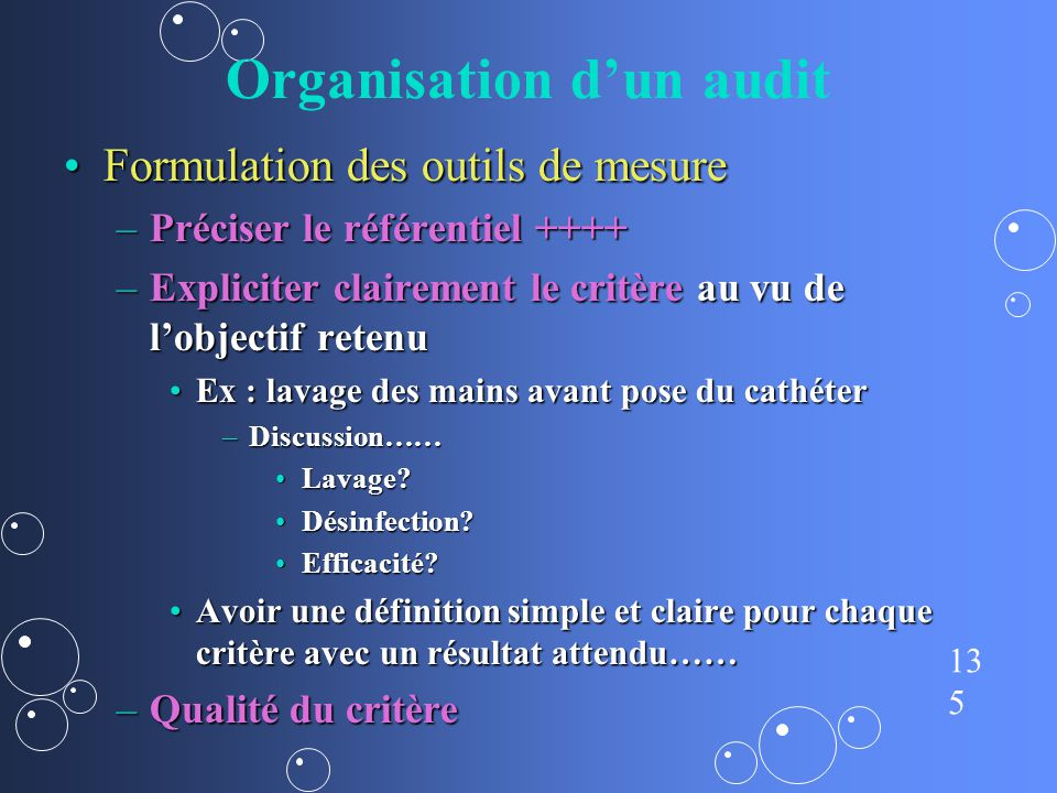 Organisation d'un audit