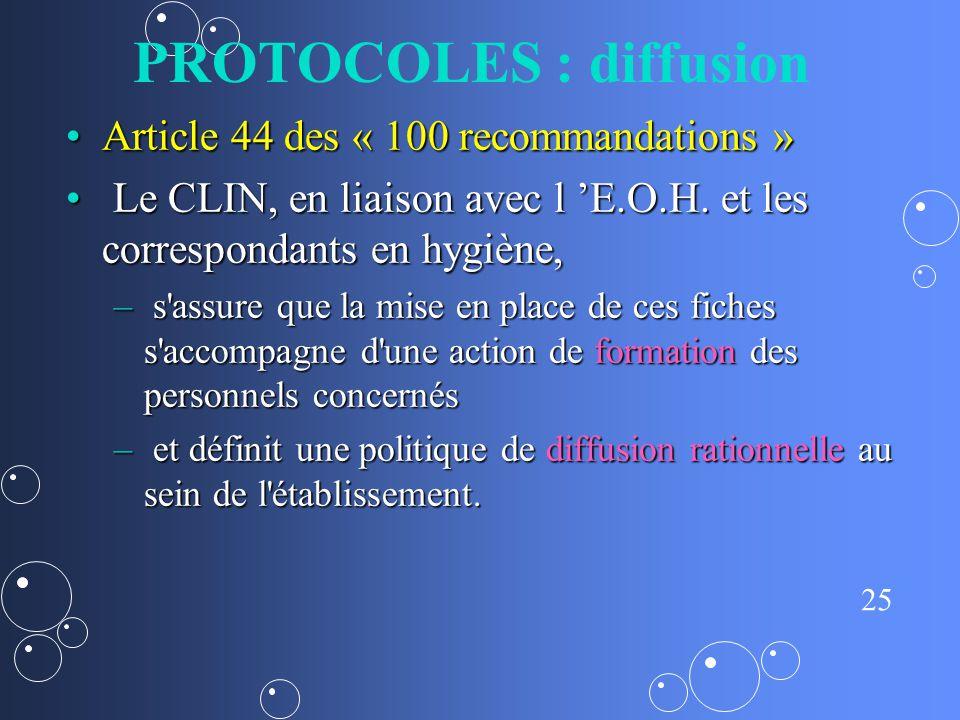 PROTOCOLES : diffusion