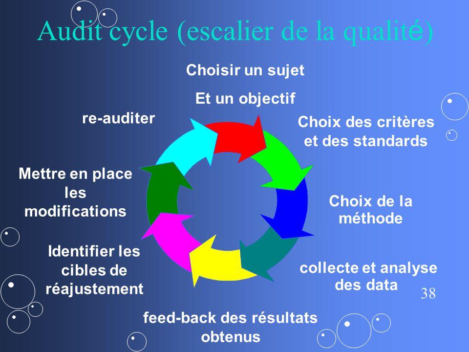 Audit cycle (escalier de la qualité)
