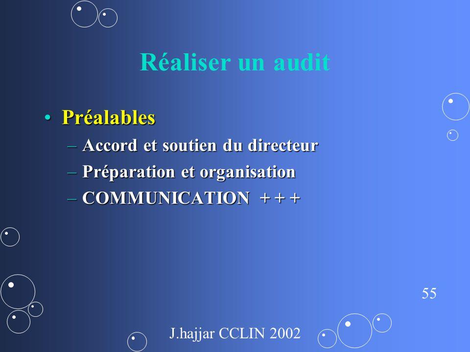 Réaliser un audit Préalables Accord et soutien du directeur