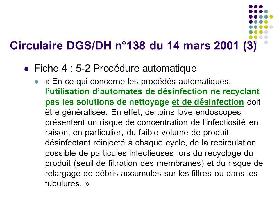 Circulaire DGS/DH n°138 du 14 mars 2001 (3)
