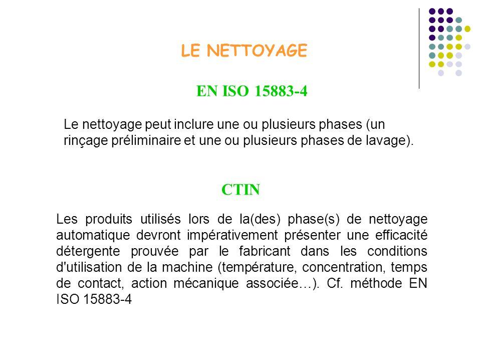 LE NETTOYAGE EN ISO 15883-4 CTIN