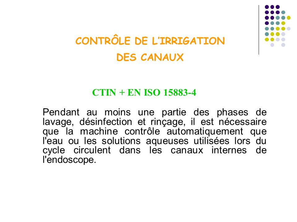 CONTRÔLE DE L'IRRIGATION