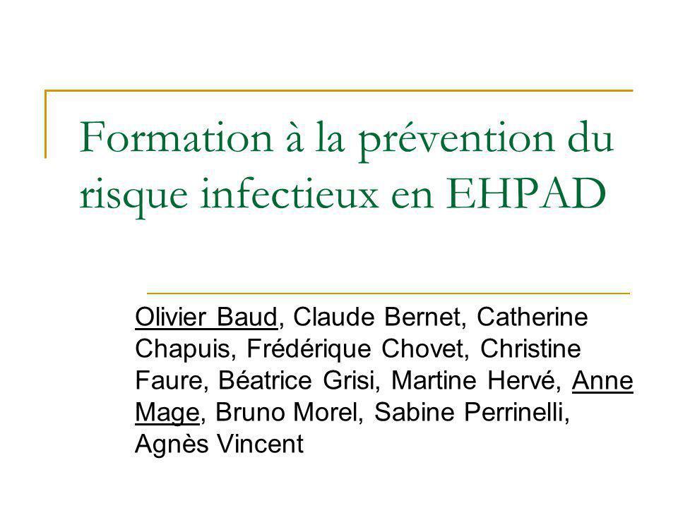 Formation à la prévention du risque infectieux en EHPAD