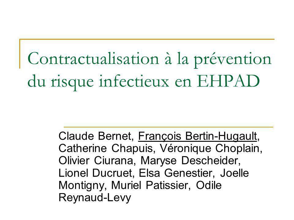 Contractualisation à la prévention du risque infectieux en EHPAD