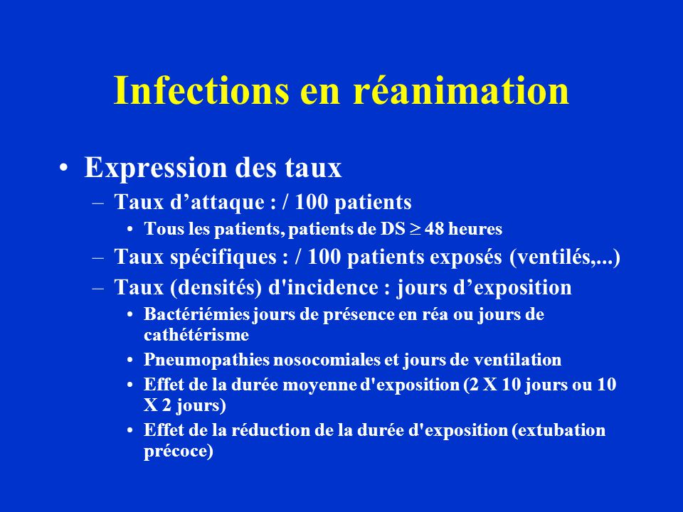 Infections en réanimation