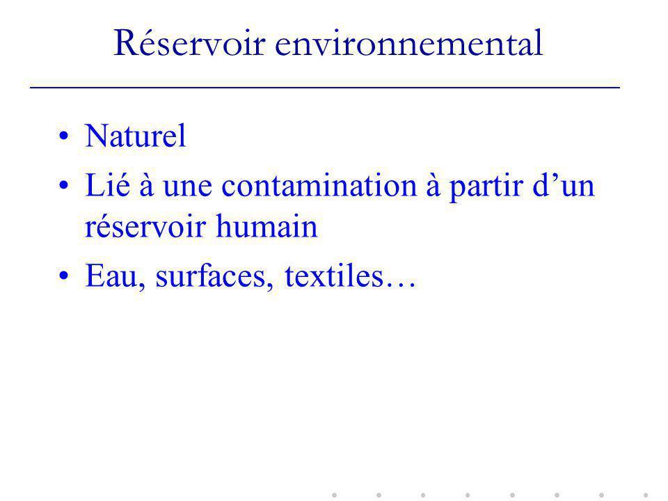 Réservoir environnemental