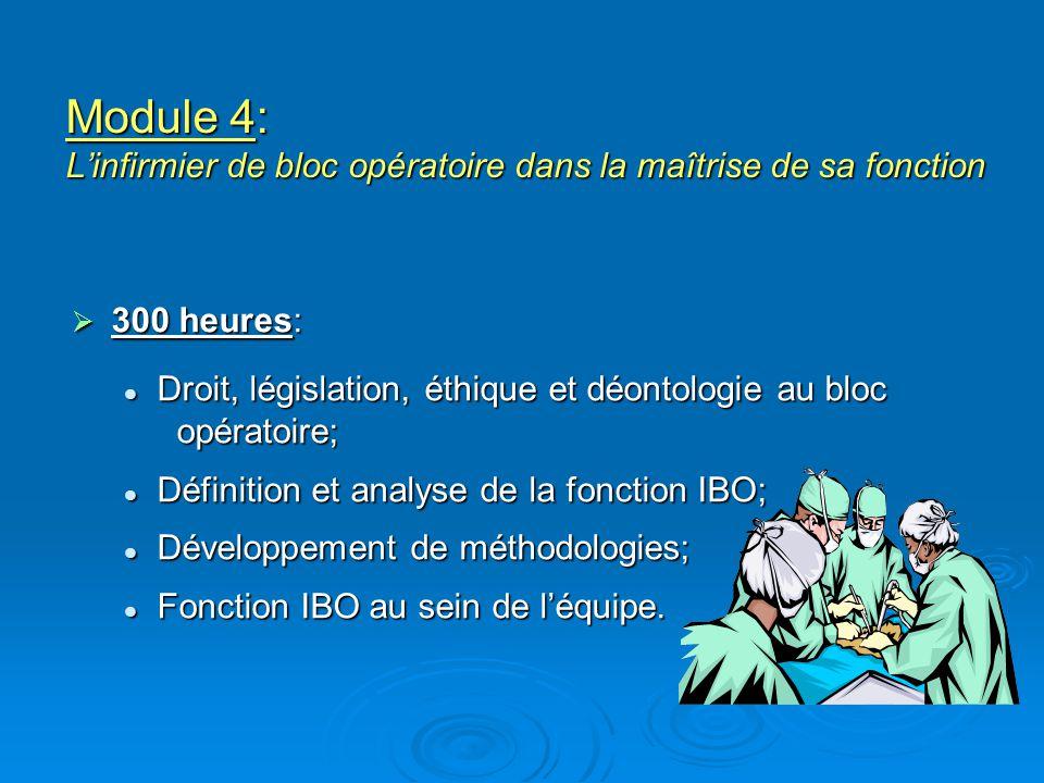 Module 4: L'infirmier de bloc opératoire dans la maîtrise de sa fonction