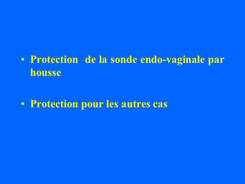 Protection de la sonde endo-vaginale par housse