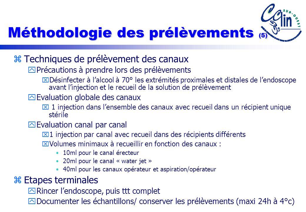 Méthodologie des prélèvements (5)
