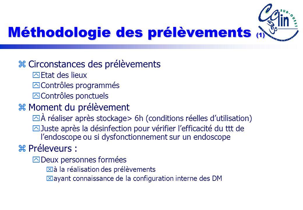 Méthodologie des prélèvements (1)
