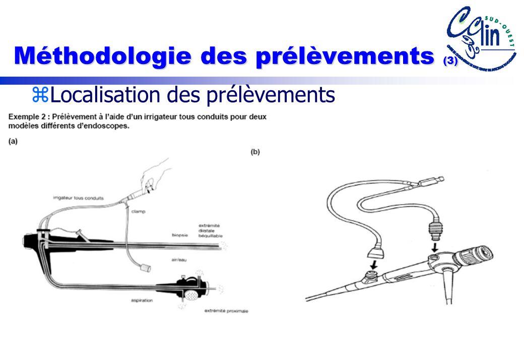 Méthodologie des prélèvements (3)