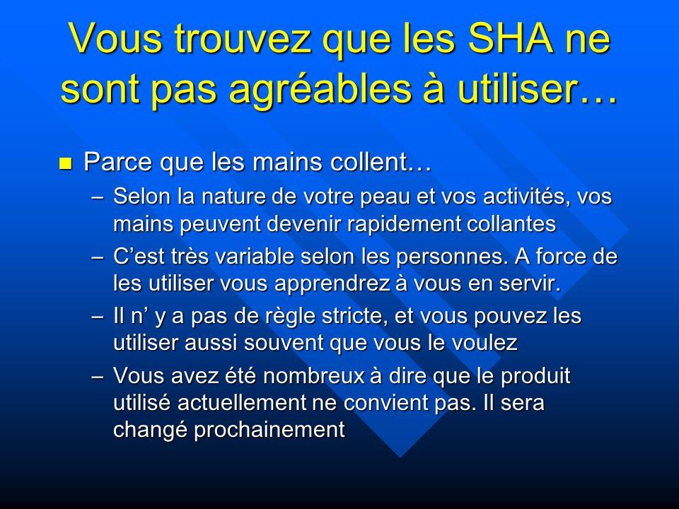 Vous trouvez que les SHA ne sont pas agréables à utiliser…