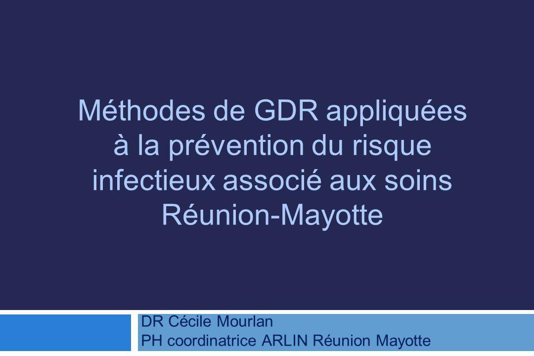 Méthodes de GDR appliquées à la prévention du risque infectieux associé aux soins Réunion-Mayotte