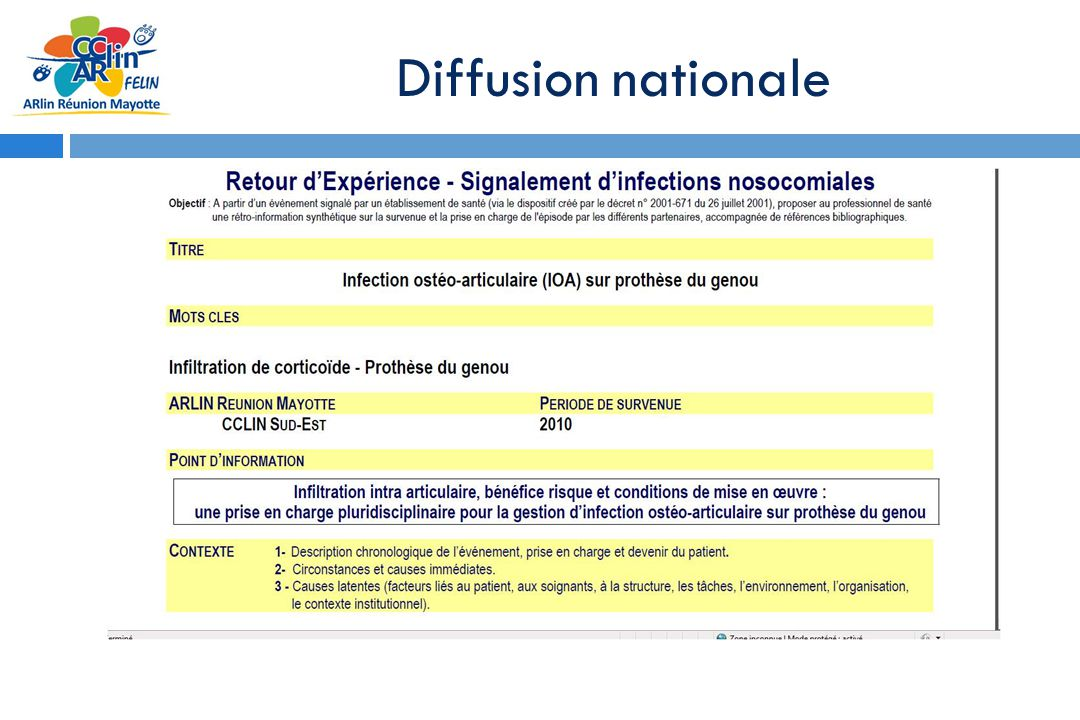 Diffusion nationale