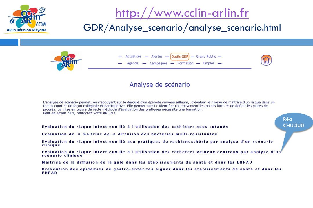 http://www.cclin-arlin.fr GDR/Analyse_scenario/analyse_scenario.html