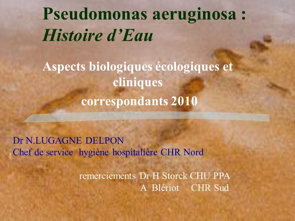 Pseudomonas aeruginosa : Histoire d'Eau