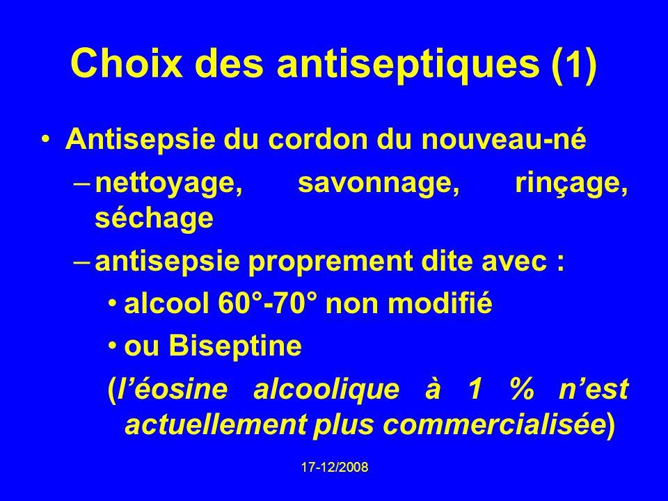 Choix des antiseptiques (1)