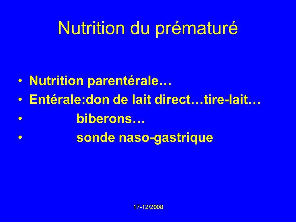 Nutrition du prématuré