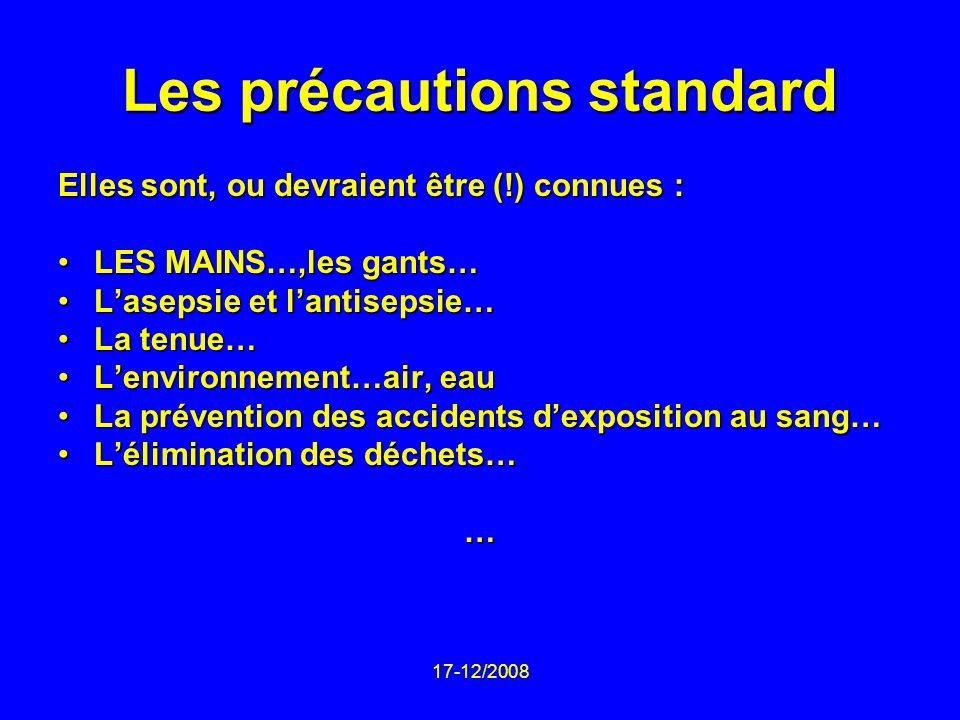 Les précautions standard