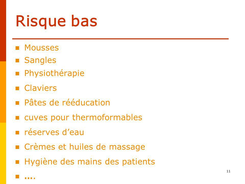 Risque bas Mousses Sangles Physiothérapie Claviers
