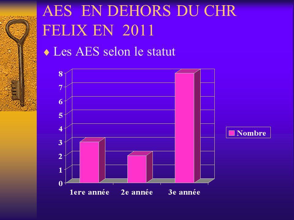 AES EN DEHORS DU CHR FELIX EN 2011