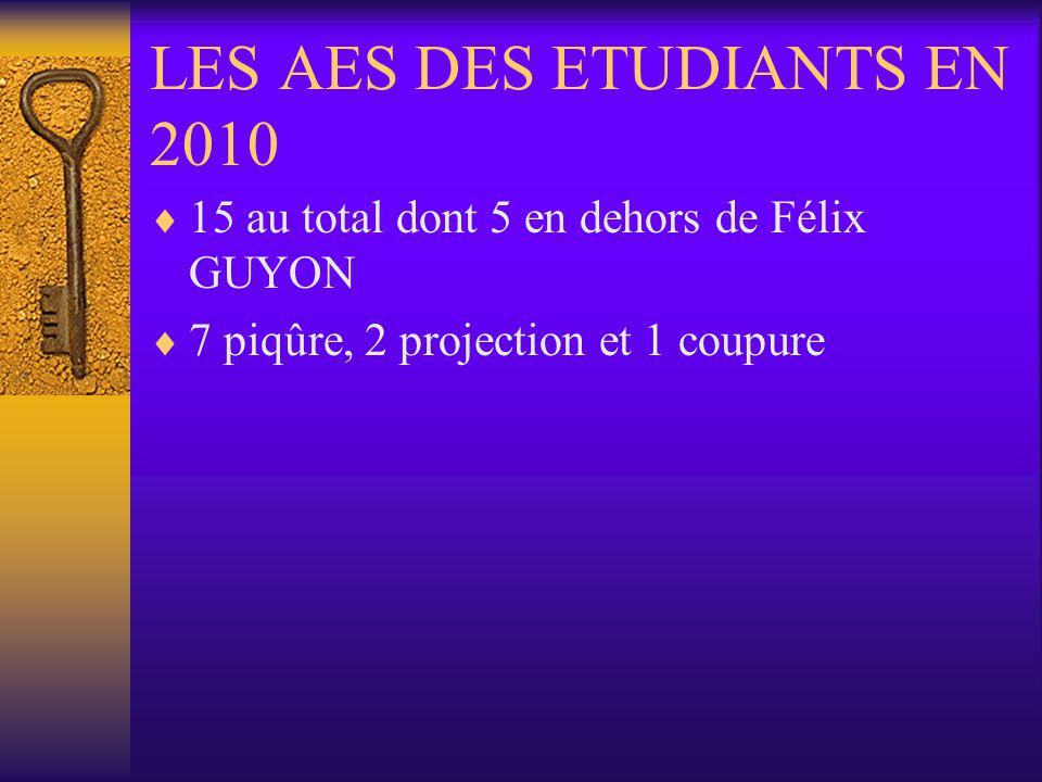 LES AES DES ETUDIANTS EN 2010