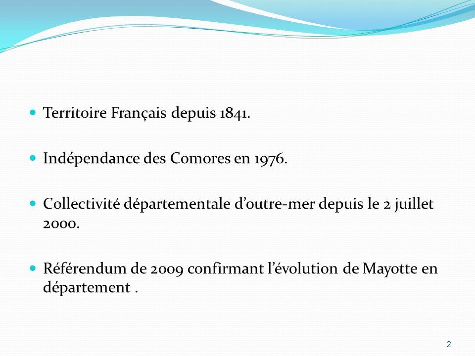 Territoire Français depuis 1841.