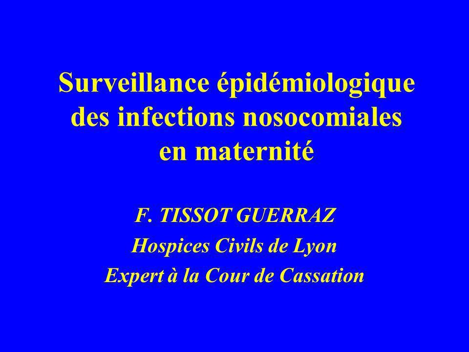 Surveillance épidémiologique des infections nosocomiales en maternité