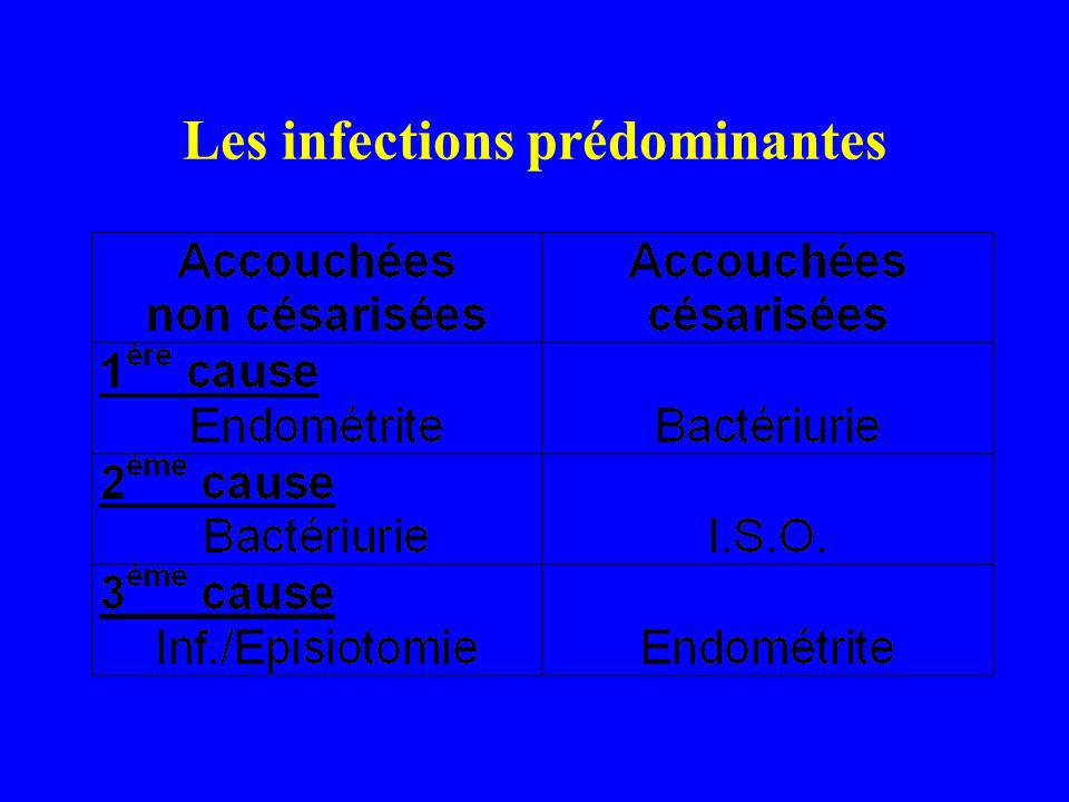 Les infections prédominantes