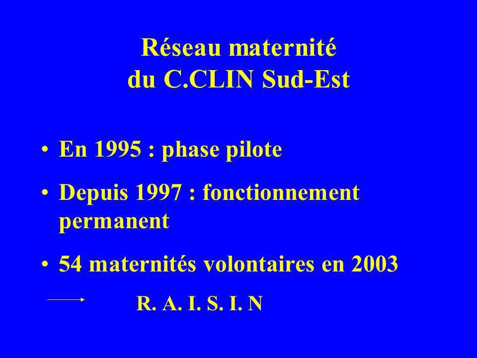 Réseau maternité du C.CLIN Sud-Est