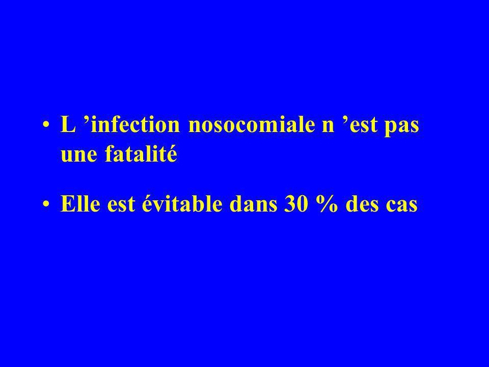 L 'infection nosocomiale n 'est pas une fatalité