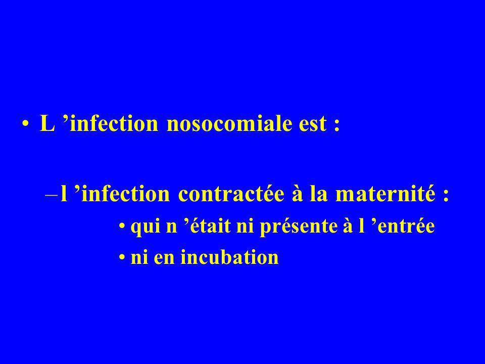 L 'infection nosocomiale est :