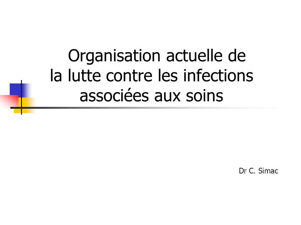 Organisation actuelle de la lutte contre les infections associées aux soins