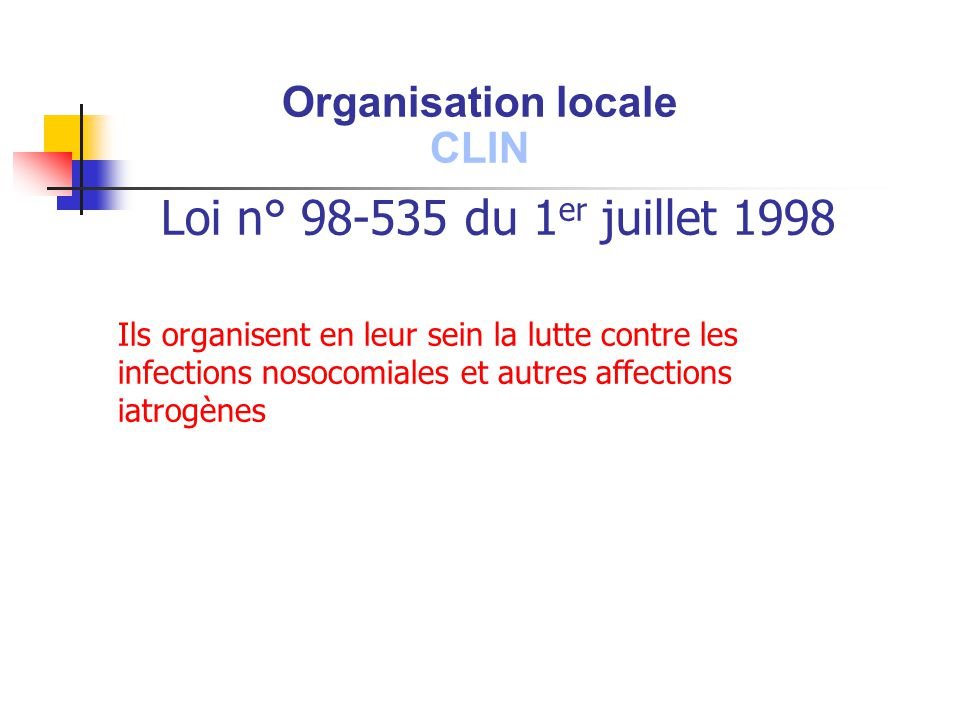 Loi n° 98-535 du 1er juillet 1998 Organisation locale CLIN