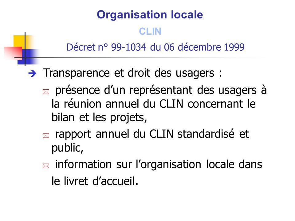 Transparence et droit des usagers :