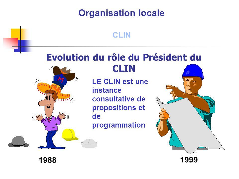 Evolution du rôle du Président du CLIN