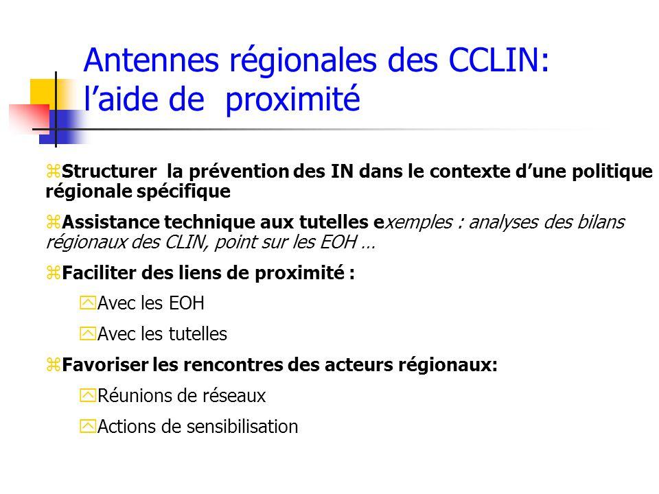 Antennes régionales des CCLIN: l'aide de proximité