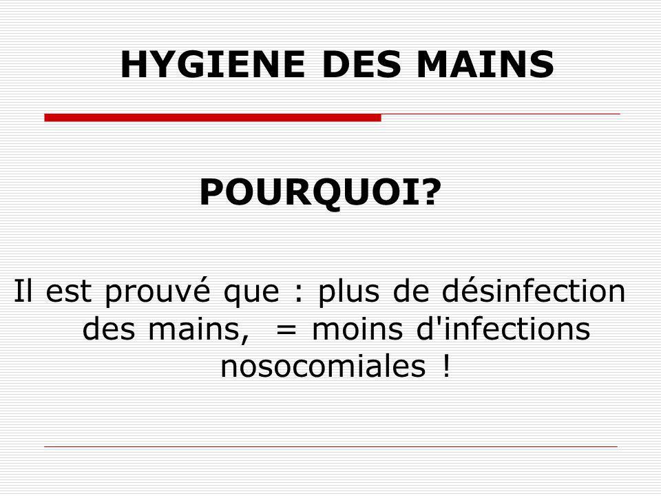 HYGIENE DES MAINS POURQUOI.