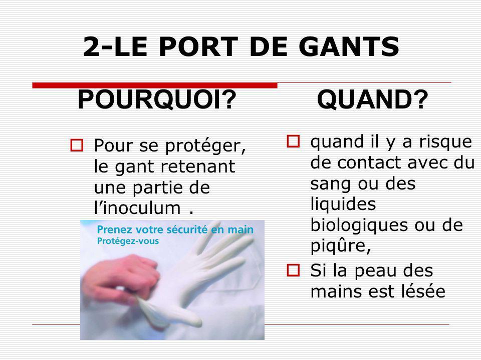 2-LE PORT DE GANTS POURQUOI QUAND