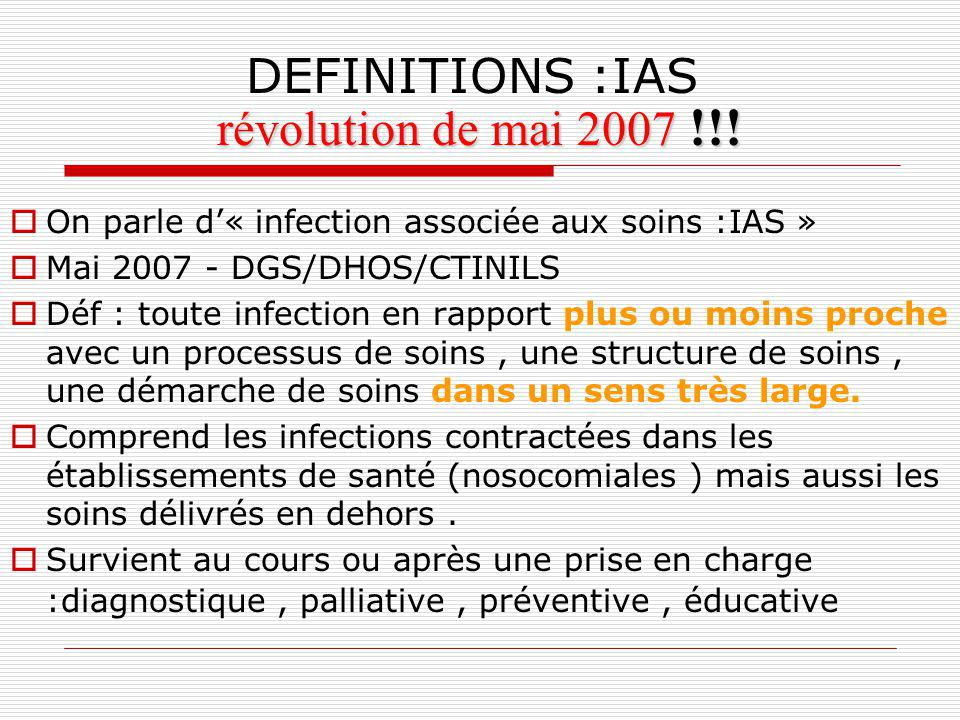 révolution de mai 2007 !!! DEFINITIONS :IAS