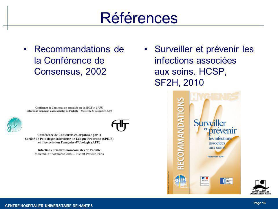 Références Recommandations de la Conférence de Consensus, 2002
