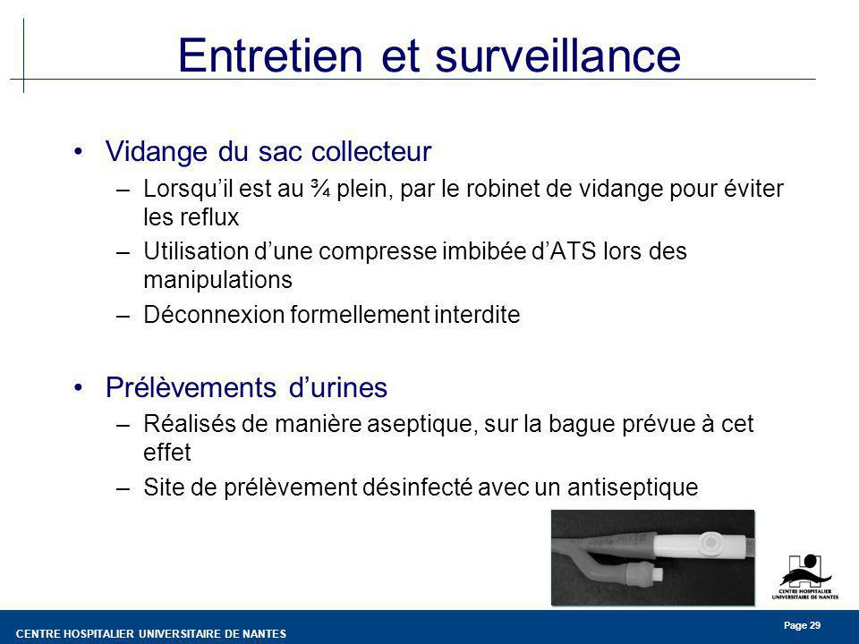 Entretien et surveillance