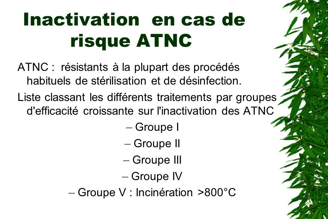 Inactivation en cas de risque ATNC
